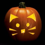 Kitten Carved Pumpkin