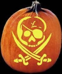Scary Pirate Pumpkin